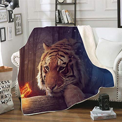 LIFUQING Dream Tiger - Cojín para Sofá, Edredón De Yoga, Sofá para El Hogar, Adulto, 150X200 Cm