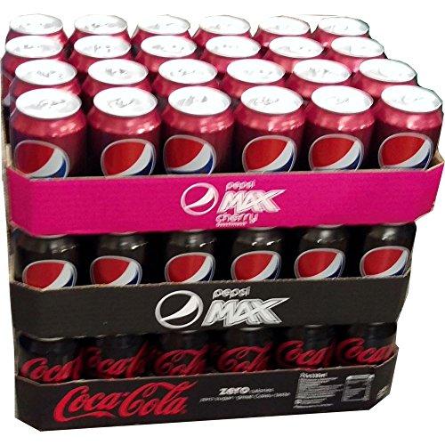 Pepsi Max Cherry, Pepsi Max & Coca Cola Zero je 24 x 0,33l Dose XXL-Paket (72 Dosen gesamt)