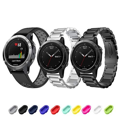 Review Of Sycreek Garmin Fenix 5/5 Plus/Forerunner 935/Instinct/Fenix 6 Smartwatch Band, 22mm Quick ...