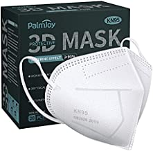 KN95 Face Mask, 20 Pcs 5-Ply White Cup Dust Safety Masks, Filter Efficiency≥95%, Men Women Kids Disposable Respirator Mask Protection Against PM2.5 with Nose Bridge Clip