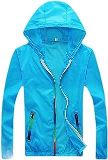 Men Lightweight Windbreaker Quick Dry Raincoat Hooded Jacket Coat