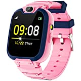 Kids Smart Watch for Boys Girls - Smart Watch for Kids with Call Camera Games Recorder 3 Alarms Music Player Calculator Kids smartwatch Phone Aged for 4-12 Years Children Students (Pink)