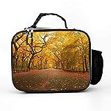 Bolsa isotérmica de otoño, árboles, paisaje, calle, jardín, lonchera, bolsa de pícnic, bolsa térmica elegante, bolsa de almuerzo aislada para el trabajo y la escuela, color blanco, talla única
