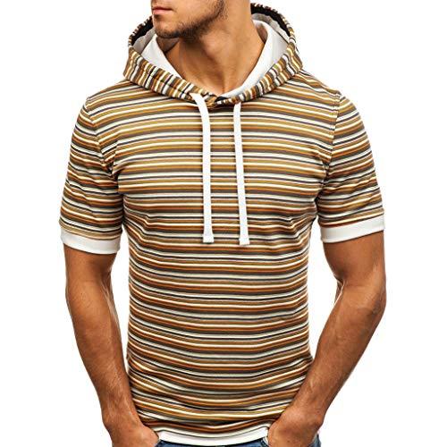 Alikey trui met korte mouwen, voor mannen, modieus, kort, nieuwe T-shirts, sporthemd, slim thee, tops, alledag, T-shirt, hoge pasvorm, gemakkelijk te strijken, katoen