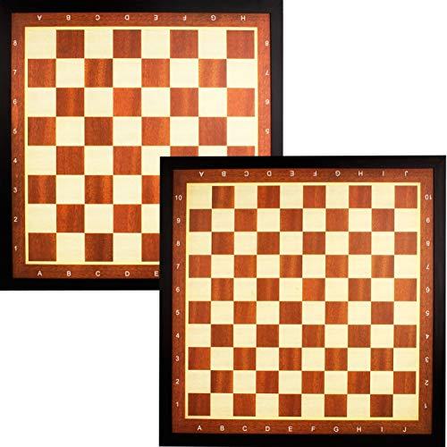 Schreuders Sport 49CD Deluxe Planche d'échecs avec Bordure Marron Taille Unique