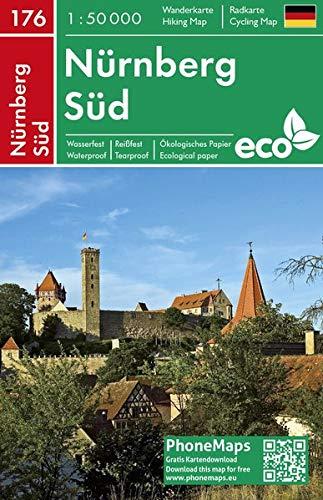 Nürnberg Süd, Wander - Radkarte 1 : 50 000 (PhoneMaps Wander - Radkarte Deutschland, Band 176)
