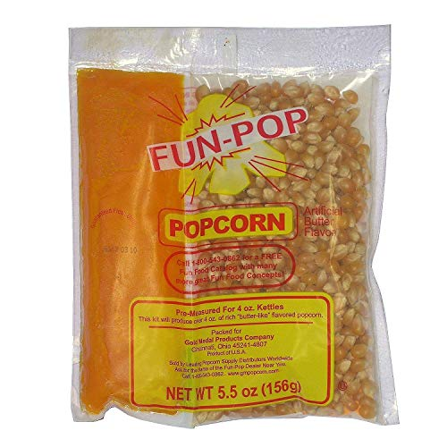 Sale!! Gold Medal 2834 Mega Pop Popcorn Kit for 4 Oz. Fun Pop - 36 / CS - SET OF 2