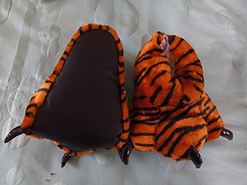 Tonwhar Unisex-Adult Home Slippers Cartoon Cosplay Paw Claw Shoes (Brown Tiger paw)