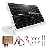 TP-solar Kit de panel solar de 30 W y 12 V, cargador de batería, controlador de carga solar a prueba de agua de 10 A, soporte de bastidor inclinable de montaje ajustable para coche