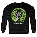 Officially Licensed Merchandise Gas Monkey Garage - Green Logo Sweatshirt (Black), XX-Large