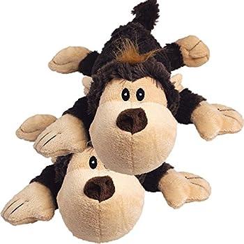 KONG Spunky Monkey Cozie Dog Toy Small  2 Pack