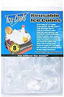 """Icy Cools 80150 2"""" x 2"""" Square Reusable Ice Cubes - 500 / CS"""