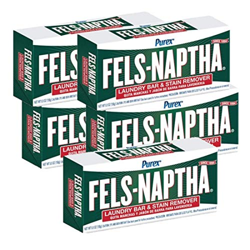 Fels Naptha Dial Laundry Soap, Pack of 5