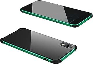 جراب زجاجي لهاتف iPhone XR 6. 1 في مضاد للانزلاق وممتص للصدمات معدني ممتص للصدمات لهاتف iPhone XR 6. 1 بوصة يحمي هاتفك من الغبار والخدوش والسقوط والصدمات وبصمات الأصابع