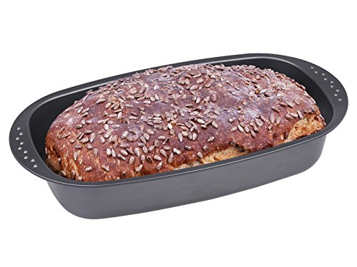 chg 6719-69 Brotbackform, antihaftbeschichtet, anthrazit / metallic, 37 x 20 x 7 cm