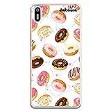 dakanna Funda Compatible con [ Bq Aquaris X5 ] de Silicona Flexible, Dibujo Diseño [ Donuts de Crema y Chocolate ], Color [Borde Transparente] Carcasa Case Cover de Gel TPU para Smartphone
