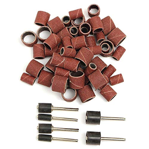 Accesorios Cepillos de diámetro de rueda en alambre de acero inoxidable,Kit de lijado de tambores Jumbo 51PC: se ajusta a Dremel: incluye mandriles de tambor de goma - 1/2, 3/8 y 1/4 pulgada