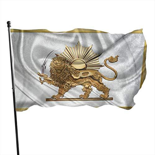 tenghanhao Flagge/Fahne, 3x5 Fuß persischer Löwe und Sonnenflagge Flagge