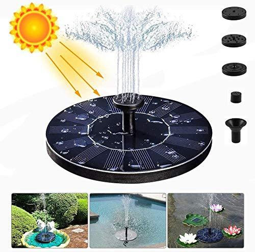 CSZZL solarbrunnen für den garten1,4-W-Solarwasserpumpe, eingebaute Batterie, für Waschbecken, Teich, Garten, 1,4-W-Batterie mit Langer Lebensdauer