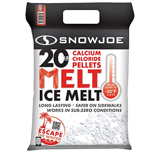 Snow Joe MELT20CPP Pure Calcium Chloride Ice Melt Pellets | 20-Lbs | 94% Pure