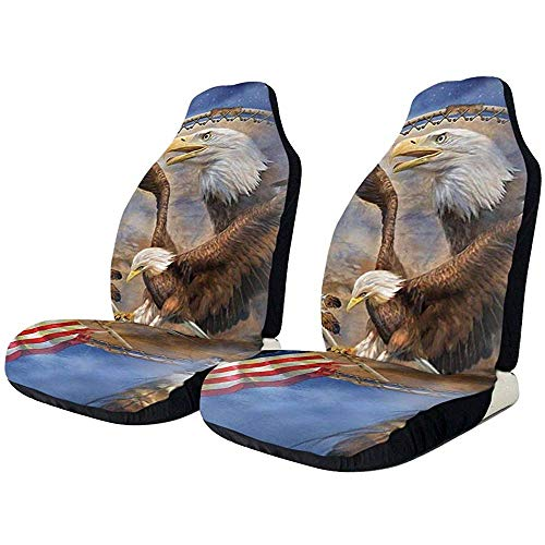 Native Freedom Eagle USA vlag stoelhoezen. UU American Pride Art voorstoelbekleding hoes hoes kussen alleen vorm
