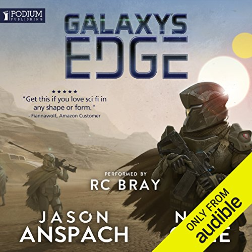 Galaxy's Edge                   Written by:                                                                                                                                 Jason Anspach,                                                                                        Nick Cole                               Narrated by:                                                                                                                                 R.C. Bray                      Length: 17 hrs and 22 mins     139 ratings     Overall 4.5