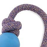 BecoThings Spielball mit Seil, 50 cm, blau
