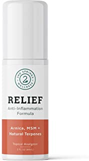 2nd Springs Relief Anti-Inflammation Formula Roll On Topical Pain Reliever Analgesic with Arnica Montana, MSM, Proprietary...