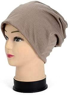 FidgetGear Unisex Beanie Casual Summer Hat Womens Mens Hip-hop Casual Solid Caps Hats Solid Khaki One Size