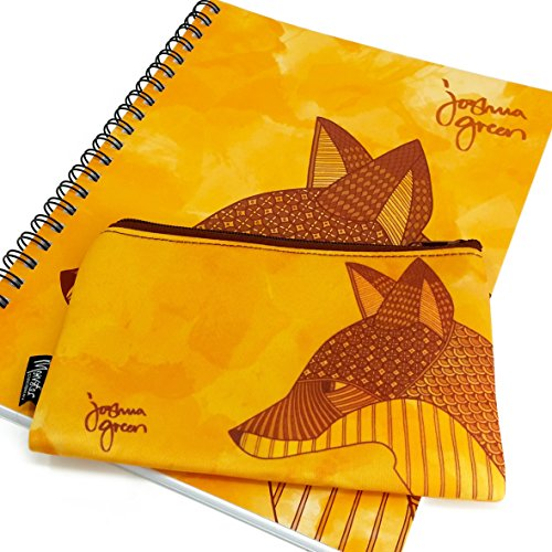 Monster Stationery - A4 Lined Notebook & Matching Neoprene Pencil Case - Made in UK - Joshua Green Design - Fox