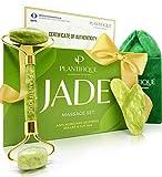 Premium Rodillo de Piedra De Jade Autentico Certificado Para Rostro 100% Natural - Masajeador Facial Antienvejecimiento...
