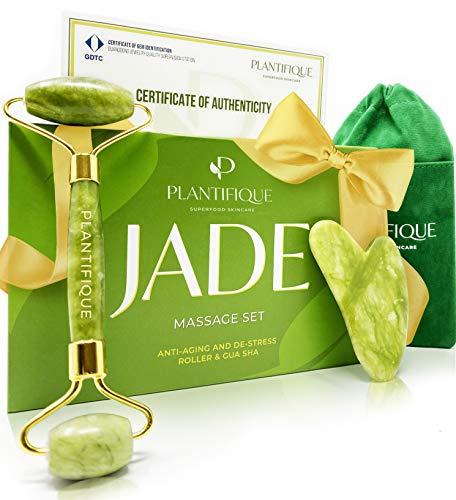 Premium Rodillo de Piedra De Jade Autentico...