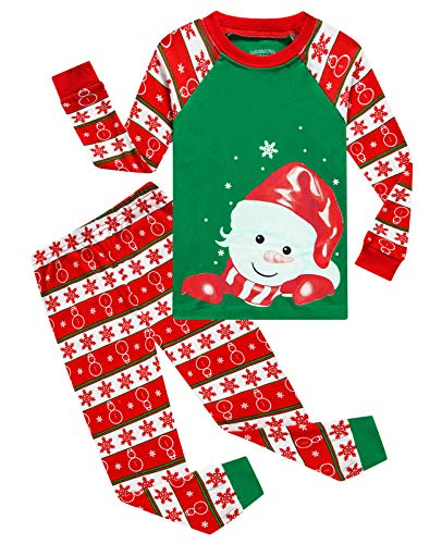 Image of Cotton Christmas Snowman Pajamas for Toddler Girls and Girls - See More