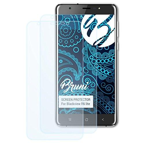 Bruni Schutzfolie kompatibel mit Blackview R6 lite Folie, glasklare Displayschutzfolie (2X)