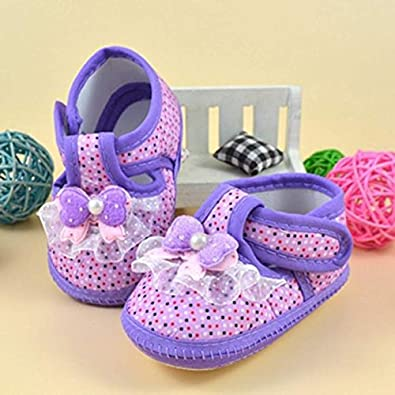 vxiong Baby Girl Shoes Infant Non-Slip Soft Sole Baby Girl Dress Shoes with Toddler Mary Jane Shoes