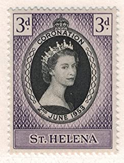 St. Helena Scott #139 - Coronation, British Commonwealth Common Design Issue From 1953 - Collectible Postage Stamps