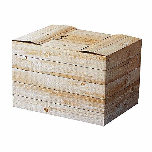 タカ印紙製品 インテリアボックス 白木 32-5591