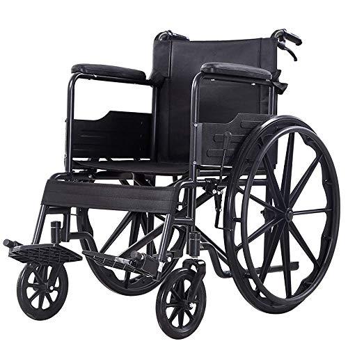 ZGYQGOO Rollstuhl Senioren Senioren Roller Behinderte Trolley Zusammenklappbares Multifunktions-Leichtgewicht Klein Tragbar Fest Riesenrad Leicht zu Reisen