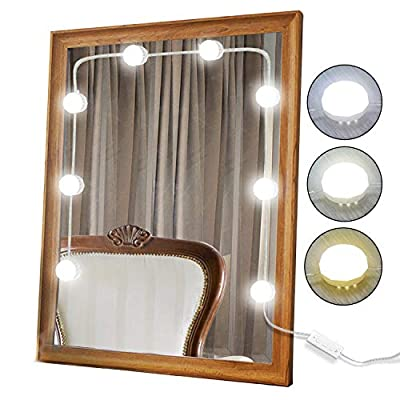 XBUTY Vanity Mirror Lights Kit Hollywood Style Dimmable LED Light Bulbs, for Makeup Vanity Table Set/Dressing Room (Mirror Not Included)