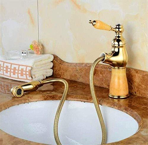 Grifos de cocina Grifos de baño Grifo mezclador Grifo de lavabo de alta calidad Grifo de extracción flexible Mármol dorado Mármol pulido Piedra Piedra Cocina Grifo mezclador de cocina Grifo Grifos de