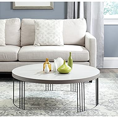 Safavieh Home Collection Keelin Grey and Black Coffee Table