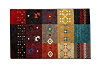 輸入カーペット ウィルトン織 玄関マット「フォリア」約60×90cm レッド(#2042569) トルコ製