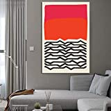 Nordische Moderne geometrische abstrakte Welle Mode Stil