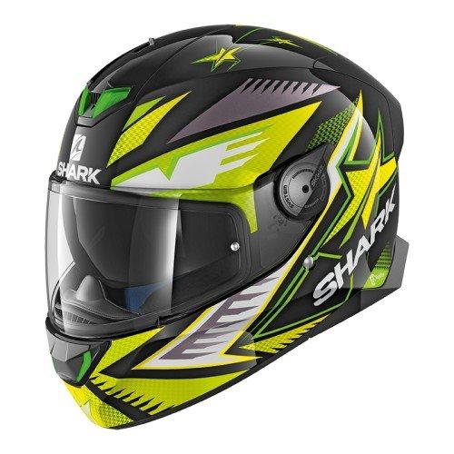 Shark SKWAL 2draghal cascos de motocicleta, color negro/amarillo, talla M
