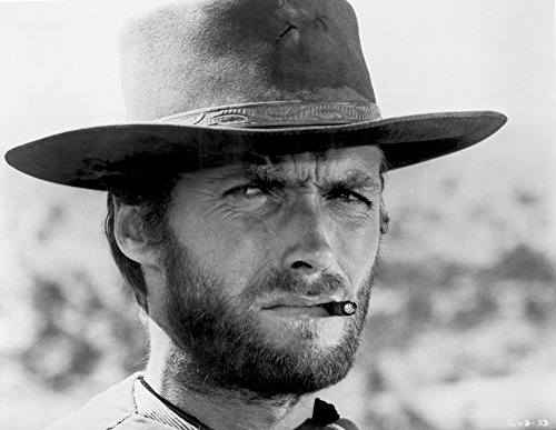 Clint Eastwood Portrait in Classic with Cigarette in His Mouth Photo Print (10 x 8)