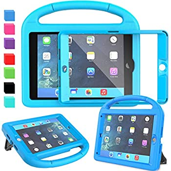 AVAWO Kids Case for iPad Mini 1 2 3 - Built-in Screen Protector Light Weight Shock Proof Handle Stand Kids Cover for iPad Mini 1st Gen iPad Mini 2nd Gen iPad Mini 3rd Generation - Blue