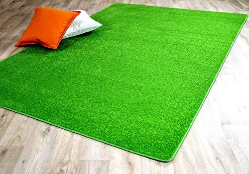 Snapstyle Trend Velour Teppich Joy Grasgrün in 24 Größen