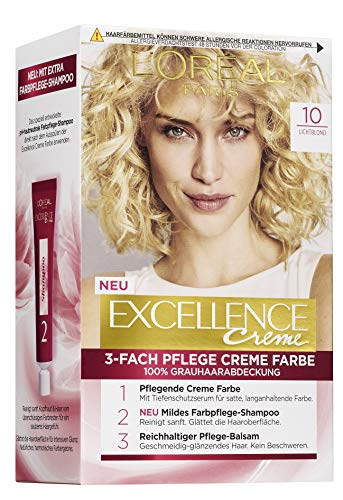 L'Oréal Paris Excellence Crème 10 Lichtblond 3er Pack(3 x 268 g)