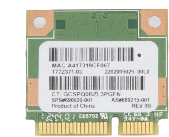 Ralink RT3290 Half Mini PCIe PCI-Express WLAN Wireless WiFi Bluetooth BT Card Replacement for HP Compaq Laptop 689215-001 690020-001 699834-201