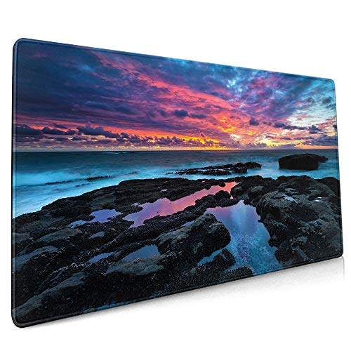 """Mouse Pad?Wide and Long Gaming Mouse Pad?Oversized?0.3Cm Thick Mouse Pad?Waterproof Non-Slip Rubber Base?Special Textured Smooth Surface?Suitable for Pc Laptop 11.8""""X31.5"""" Inches - 30Cm80Cm"""